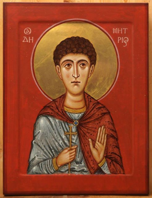 Св. Димитрий Солунский. Автор о. Андрей Борода.
