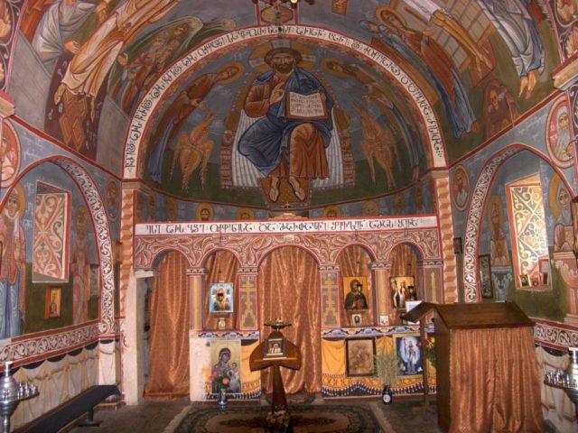 Роспись храма в Грузии. Автор о. Андрей Борода.