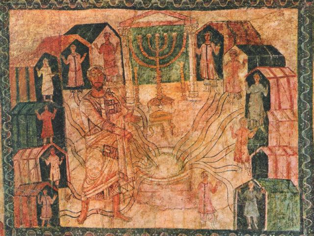 Моисей дает воду коленам Израилевым
